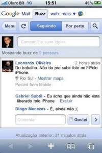 Google Buzz no iPhone