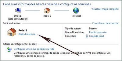 Perfil de Rede - Windows Seven