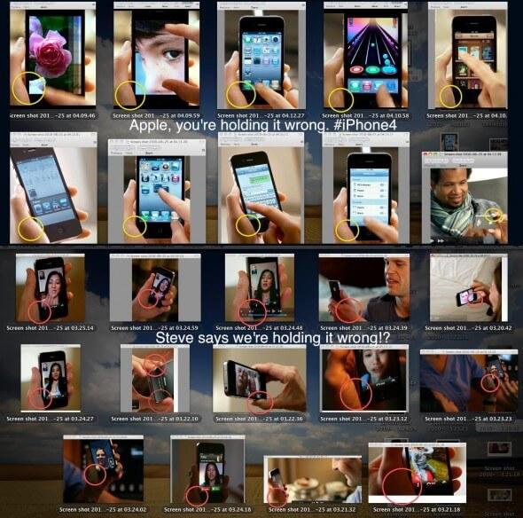 Segurando O iphone 4