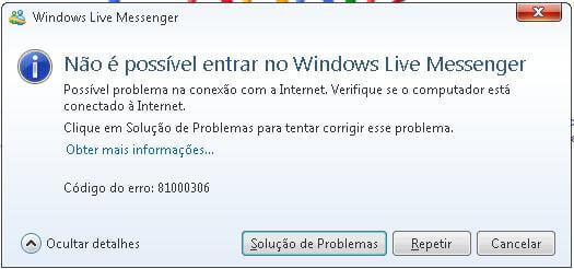 Erro 81000306 - WLM