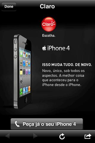 iPhone 4 - Publicidade Claro