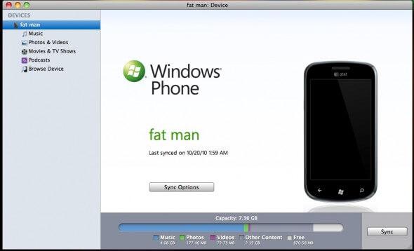 Windows Phone - Sincronização