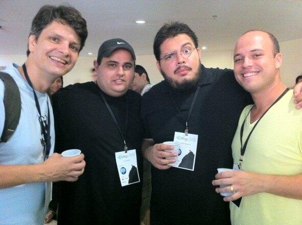Nick Ellis, Brogui, Jacaré, Flavio (BlogCamp 2010 - Rio de Janeiro, Foto: Gabriel Subtil)