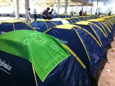 Minha barraca na Campus Party 2011