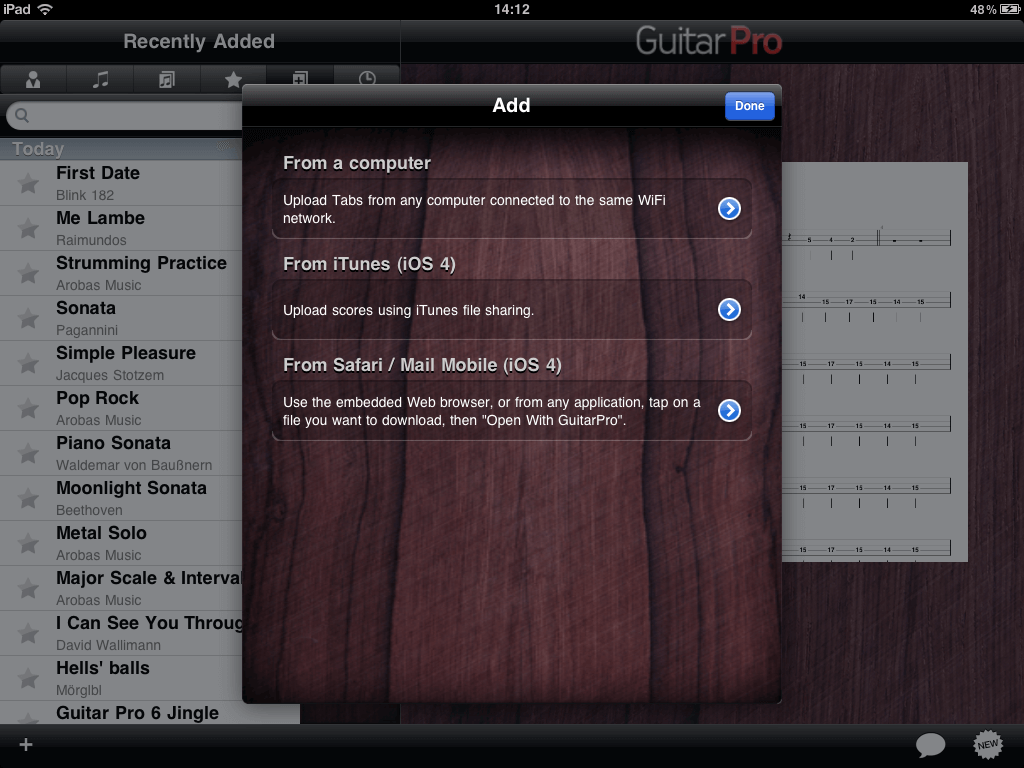 Guitar Pro no iPad - Inserindo novas Tablaturas