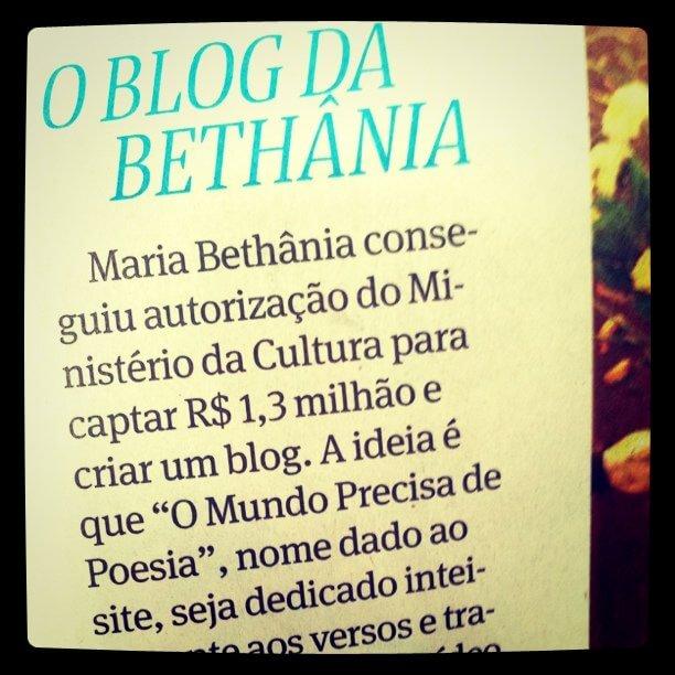 Blog Maria bethânia