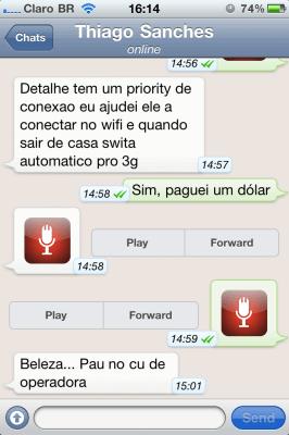 WhatsApp - Chat em Separado por Cores