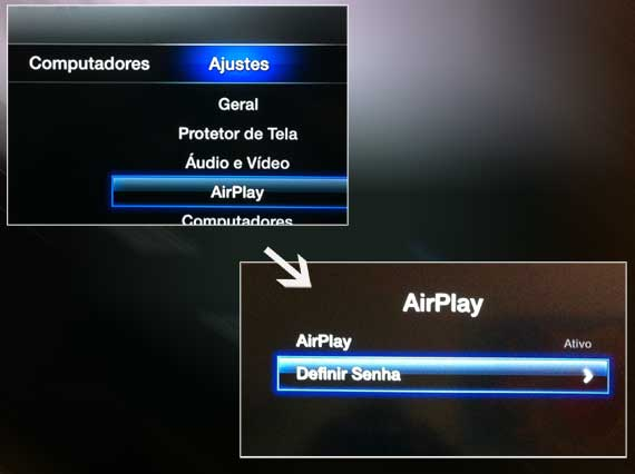 Definindo a Senha do Airplay