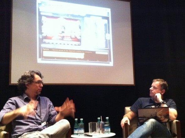 Antônio Santos (a esquerda), Designer da Gazeus