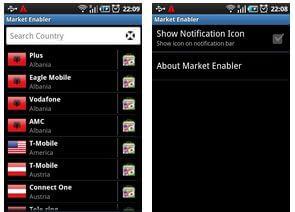interface do Market Enabler