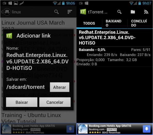 tTorrent, aplicativo no Android para Baixar arquivos por Links Magnéticos