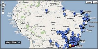 Mapa Sinal3G