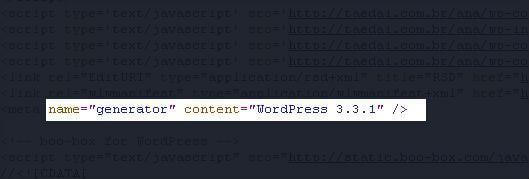 """Metatag  """"Generator"""" no WordPress"""