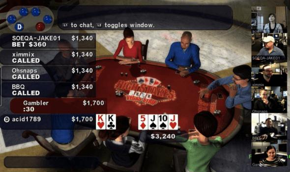 A EyeToy faz com que a possibilidade do blefe em games de poker nos video-games seja levada a outro patamar