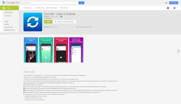 Sync.me na Google Play