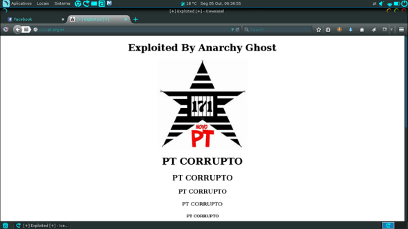 Anarchy Ghost - Página Pixada do PT