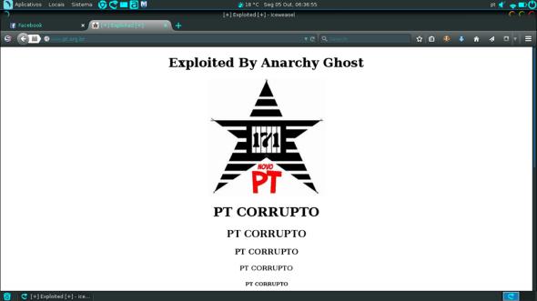 Anarchy Ghost - Página Pixada do PT