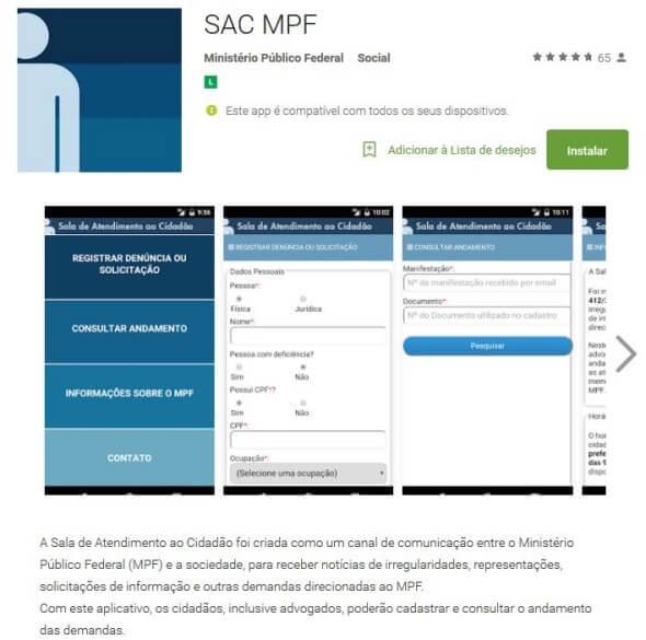 SAC MPF no Google Play