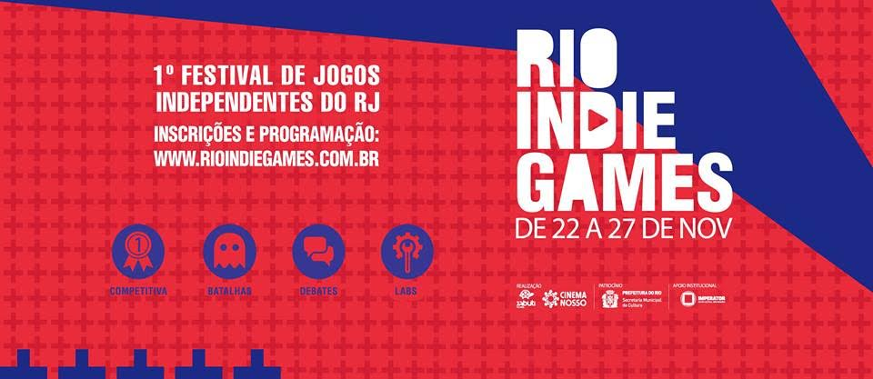 Panfleto do Rio Indie Games 2016