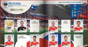 Álbum Online de Figurinhas da Copa